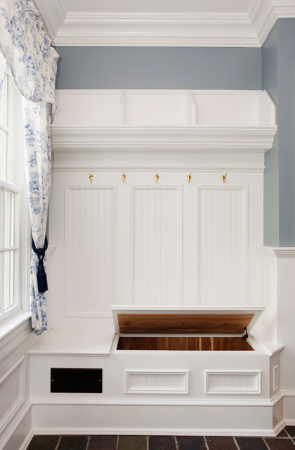 Entryway Storage Bench Entry Traditional with Beadboard Bench Cedar Coat