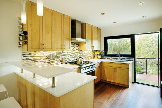 Epoxy Countertops Kitchen Transitional with Awning Window Beige Countertop
