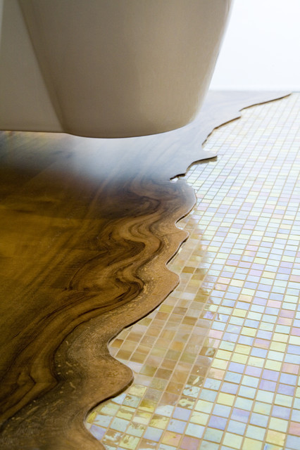 Epoxy Grout Bathroom Contemporary with Tile Wood