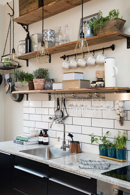 Etagere Ikea Kitchen Scandinavian with Hanging Pot Rack Hanging1