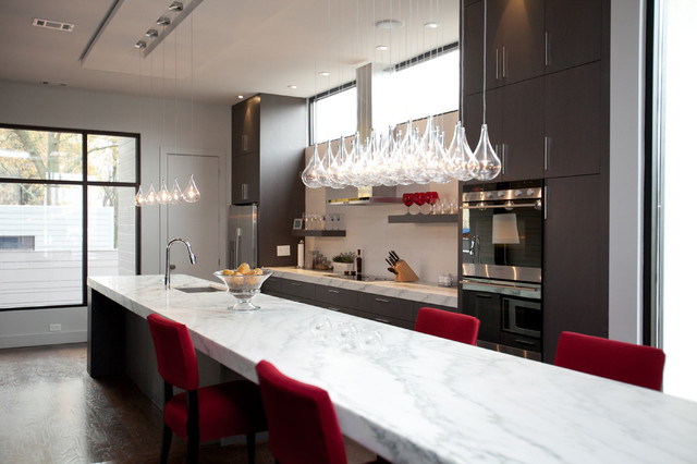 Eureka Lighting Kitchen Contemporary with Atlanta Bubble Pendant Light