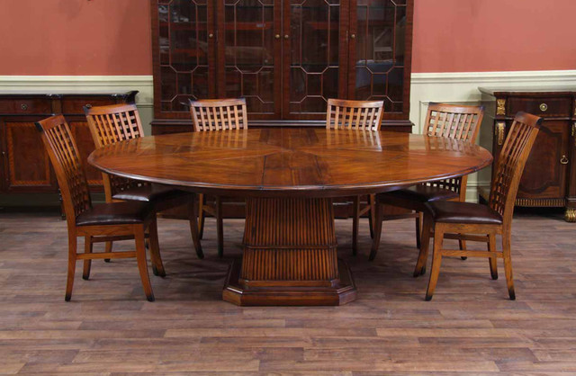 Expandable Round Dining Table Dining Room Tropical with 84 Round Dining Table