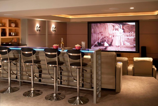 Extra Tall Bar Stools Home Theater Contemporary with Addition Bar Seating Ceiling