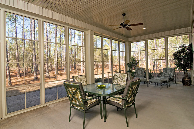 Eze Breeze Porch Traditional with Back Porch Ceiling Fan