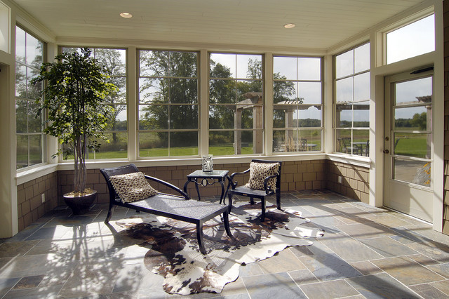 Eze Breeze Sunroom Traditional with Chaise Longue Chaise Lounge