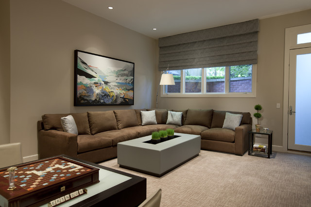 Fabrica Carpet Home Theater Contemporary with Arc Lamp Art Carpeting
