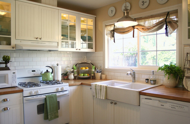 Farmhouse Sink Ikea Kitchen Traditional with Beadboard Burlap Butcherblock Farm