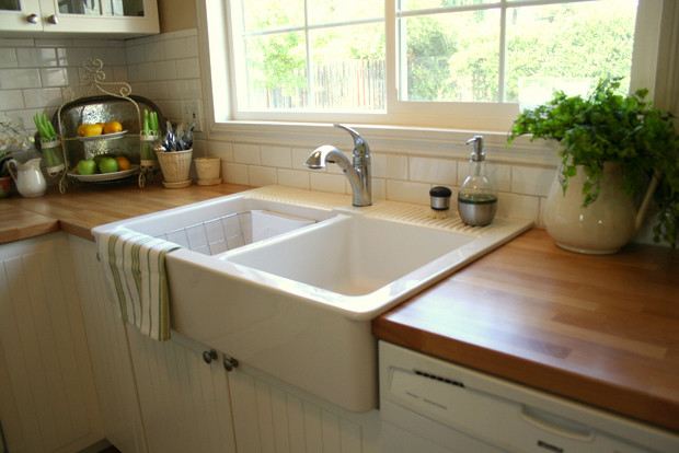 Farmhouse Sink Ikea Kitchen Traditional with Butcherblock Farm House Sink