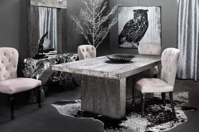 Faux Cowhide Rug Dining Room Contemporary with Dining Room Grey Natural