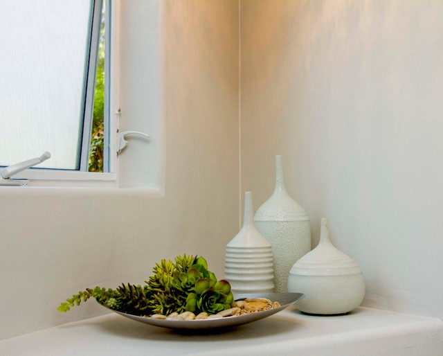Faux Succulents Bathroom Contemporary with Accessories Contemporary Accessories Metal