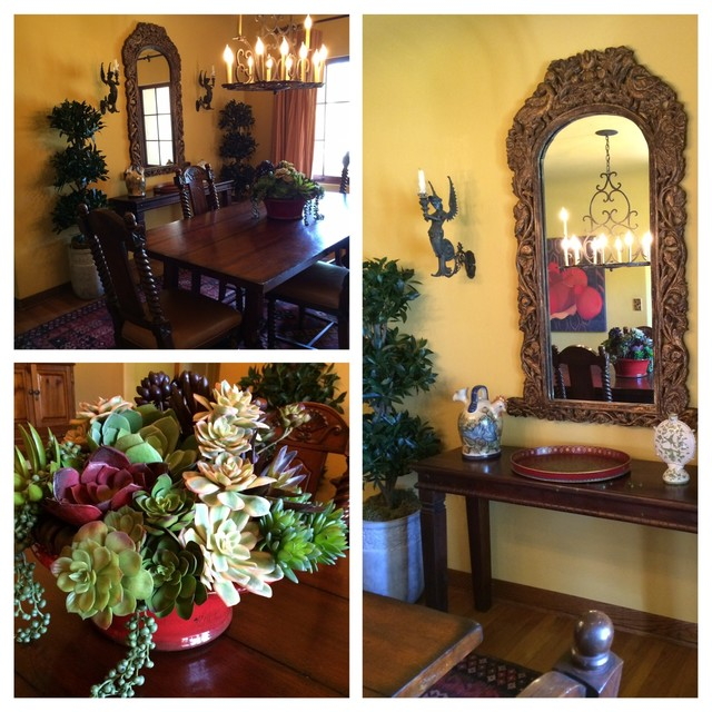 Faux Succulents Dining Room Mediterranean with Faux Succulents Hacienda Spanish