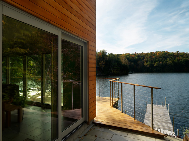 Feeney Cable Rail Patio Modern with Cable Railing Dock Exterior