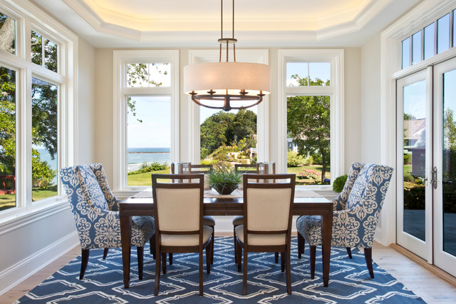Feiss Lighting Dining Room Beach with Beach Cottage Beige Walls