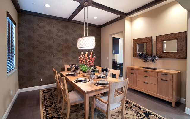 Feiss Lighting Dining Room Contemporary with Accent Wall Area Rug