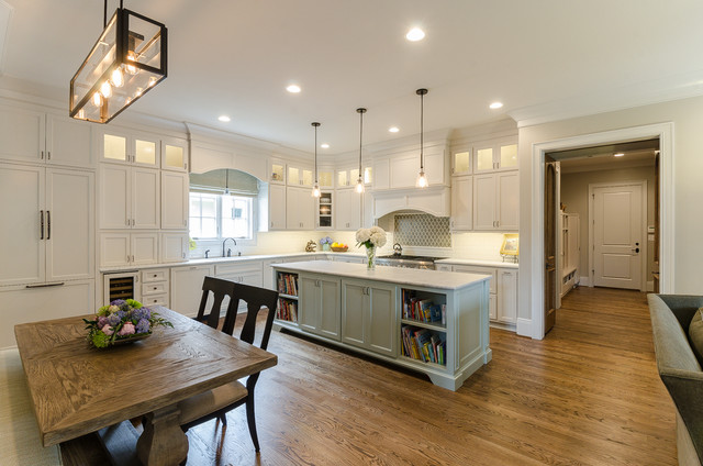 Feiss Lighting Kitchen Traditional with Banquette Seating Bookshelves Breakfast