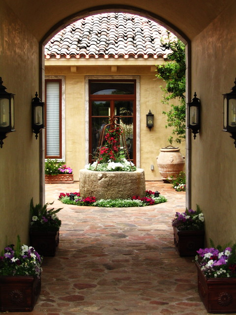Feiss Lighting Patio Mediterranean with Container Plant Courtyard Custom