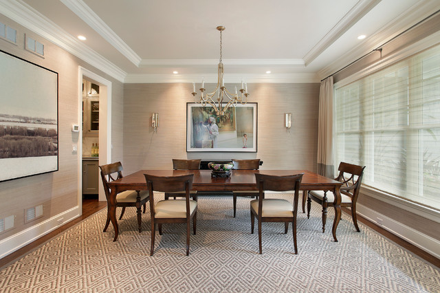 Feizy Rugs Dining Room Traditional with Curved Dark Wood Dining