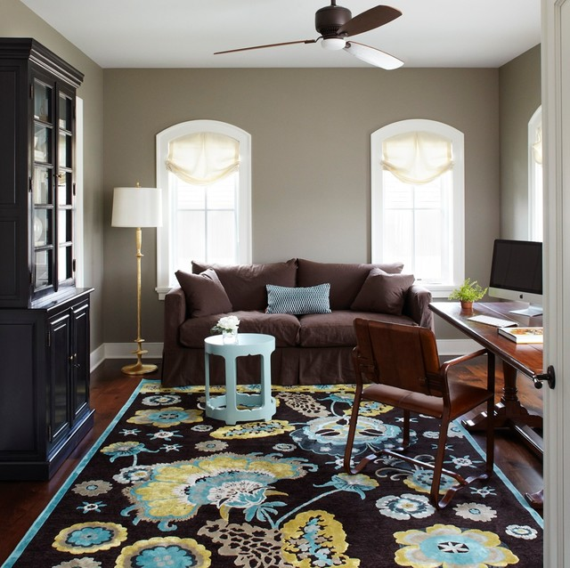 Feizy Rugs Home Office Traditional with Antique Desk Arched Windows