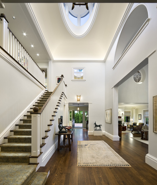 Finials Staircase Contemporary with Ball Finial Carpet Runner