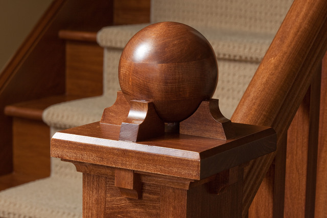 Finials Staircase Craftsman with Ball Craftsman Newel Post