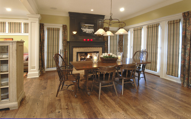 Fireplace Mantel Ideas Kitchen Traditional with Candles Centerpiece Chandelier Curtains
