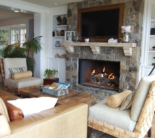 Fireplace Mantel Kits Living Room Beach with Armchairs Built in Shelves Built In