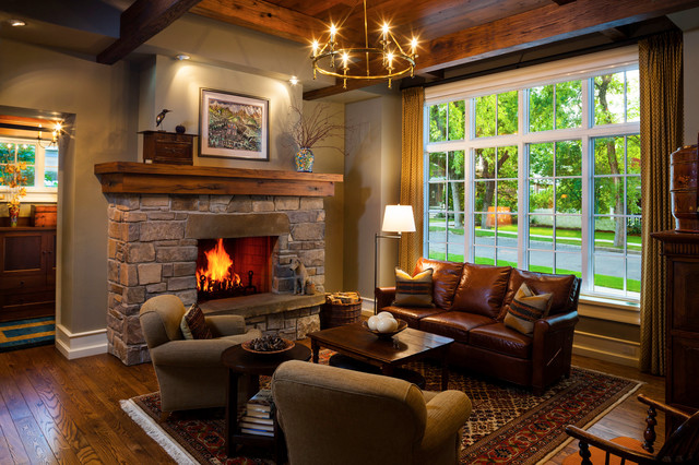 Fireplace Mantels Living Room Traditional with Area Rug Armchair Baseboards