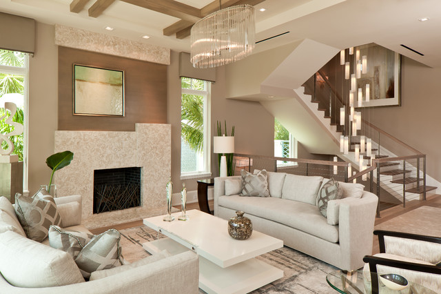 Fireplace Mantles Living Room Contemporary with Art Glass Lighting Blown