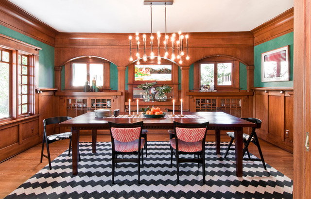 Flat Weave Rugs Dining Room Eclectic with Craftsman Graphic Historical Modern