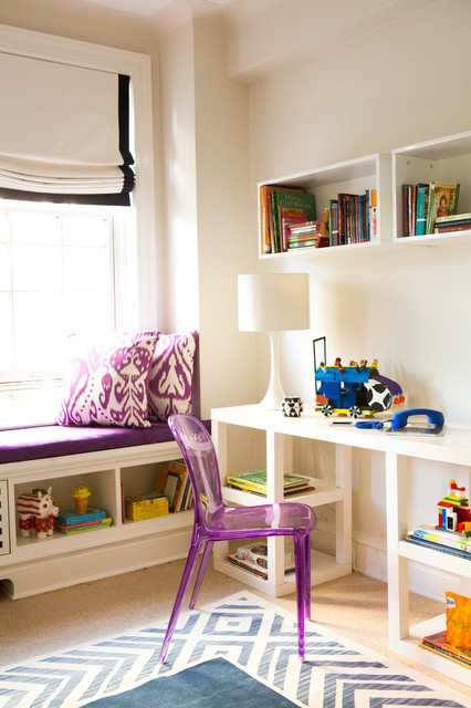Floating Bookshelf Kids Contemporary with Beige Carpet Childrens Bedroom