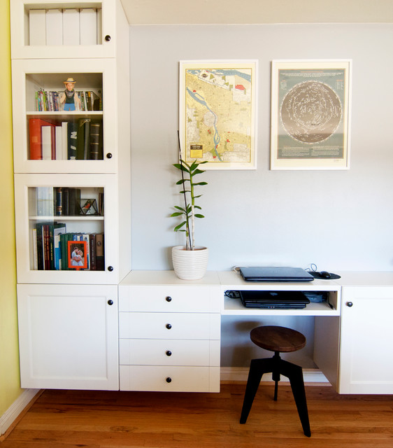 floating desk ikea Home Office Eclectic with My Houzz
