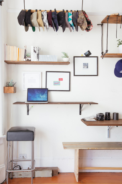 Floating Desk Ikea Home Office Eclectic with Bar Stool Craftsman Diy