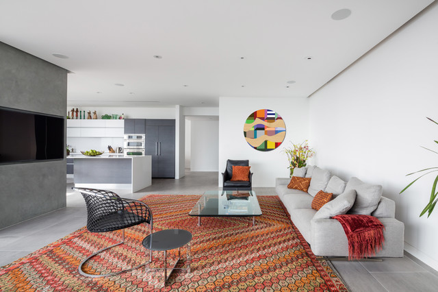 Fluffy Rugs Living Room Contemporary with Circular Art Diamond Area