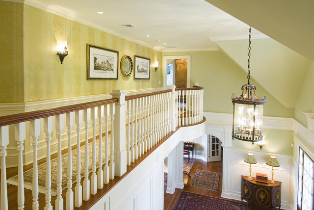 Foyer Chandeliers Hall Traditional with Agra Rug Architectural Prints