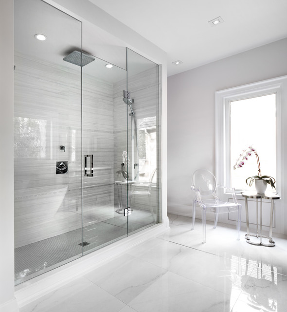 Frameless Shower Door Bathroom Contemporary with Acrylic Armchair Acrylic Chairs