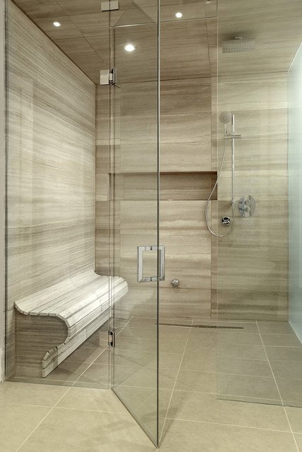 Frameless Shower Door Bathroom Contemporary with Bathroom Lighting Bathroom Tile1