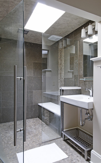 Frameless Shower Doors Bathroom Contemporary with Bathroom Lighting Bathroom Stool