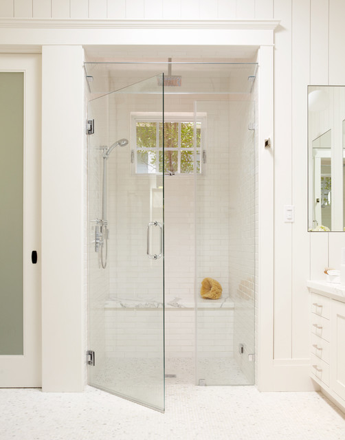 Frameless Shower Doors Bathroom Traditional with Baseboards Curbless Shower Frameless1