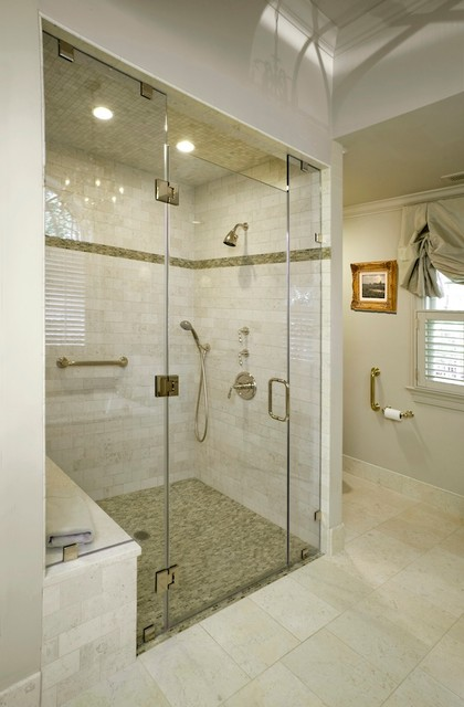 Frameless Shower Doors Bathroom Traditional with Ceiling Lighting Frameless Shower
