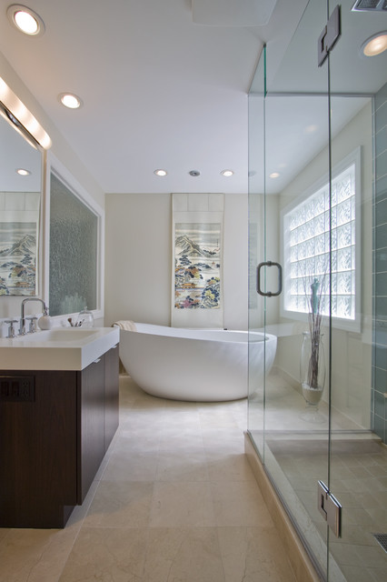 Free Standing Tubs Bathroom Modern with Bath Corian Corian Countertop