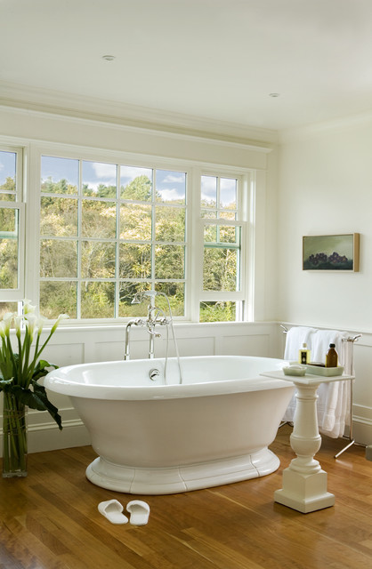 Freestanding Tubs Bathroom Traditional with Floor Mount Tub Filler