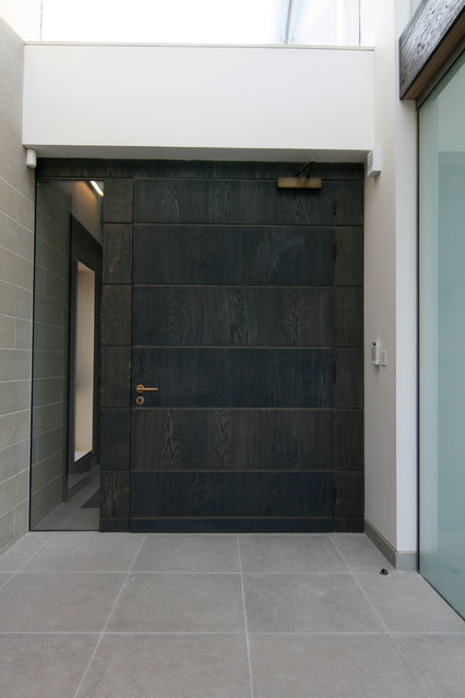 Front Door with Sidelights Entry Contemporary with Contemporary Design Dark Wood