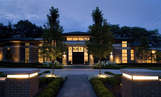 Front Door with Sidelights Exterior Contemporary with Container Plants Entrance Entry