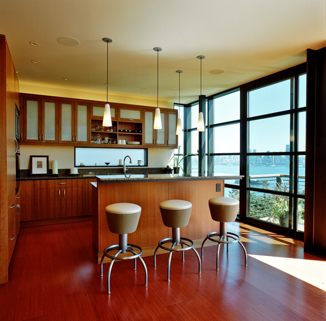 Frosted Window Film Kitchen Contemporary with Bar Beige Barstools Floor to Ceiling