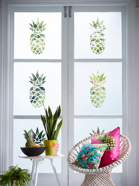 Frosted Window Film Living Room Tropical with Acid Etched Glass Contemporary