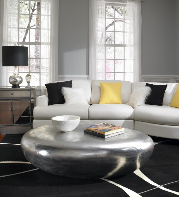 Furniture Land South Living Room Contemporary with Area Rug Black Fur