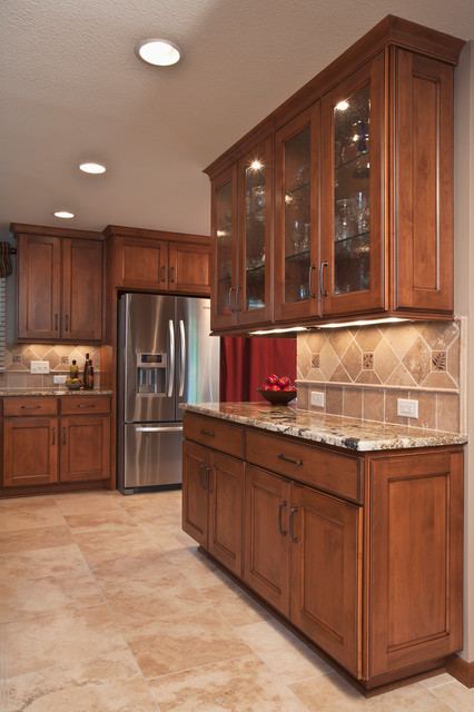 Furniture on Consignment Wichita Ks Kitchen Transitional with Alder Backsplash Brown Buffet