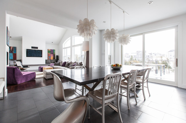 Furnitures Stores Dining Room Contemporary with Aluminum Chairs Arched Window