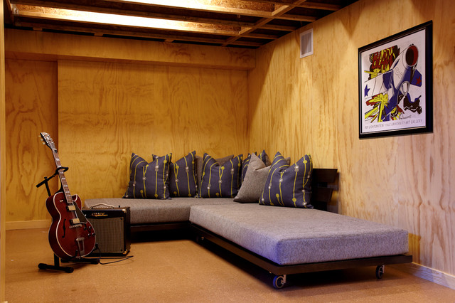 futon couch bed Basement Modern with CategoryBasementStyleModernLocationNew York