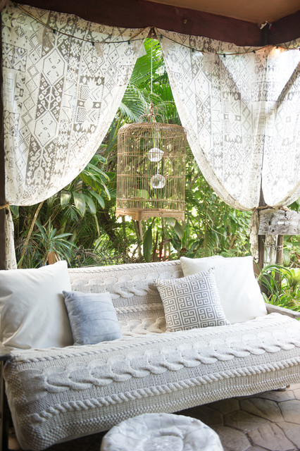 Futon Slipcover Patio Beach with Birdcage Covered Patio Hawaiian